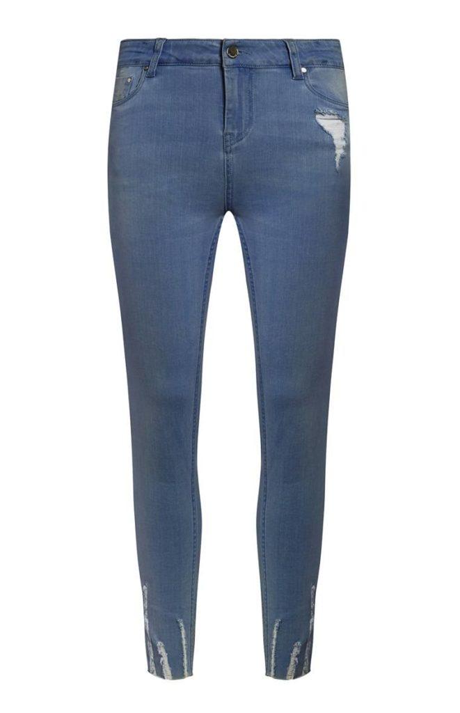 Jean deshilachado azul