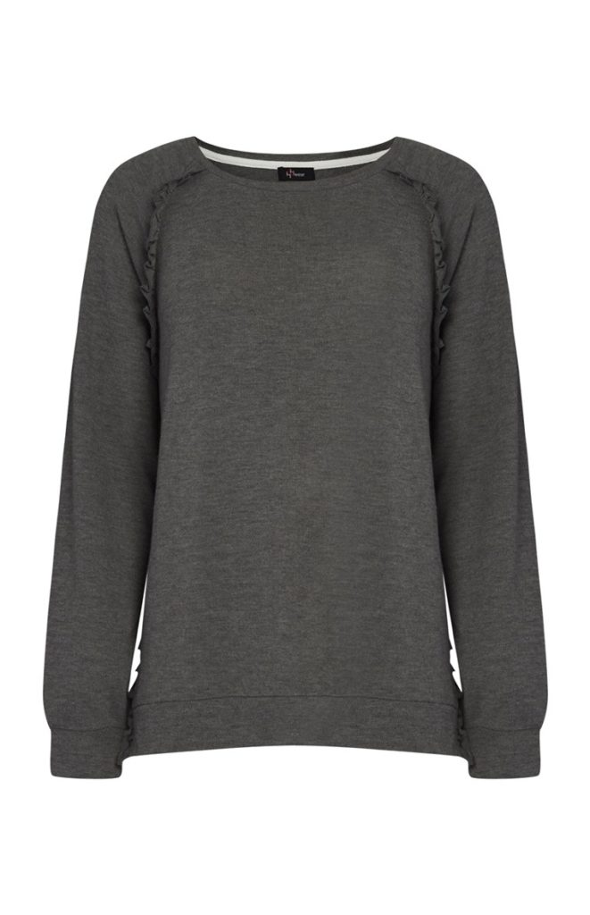Jersey gris con volantes