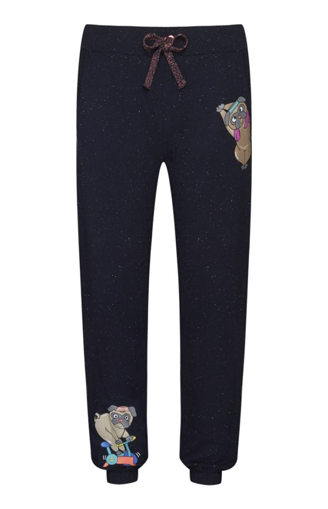 Leggings de pijama Pug azul marino