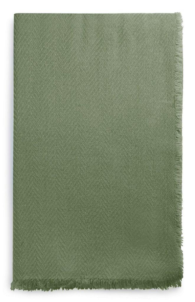 Pañuelo de tela de espiga color caqui