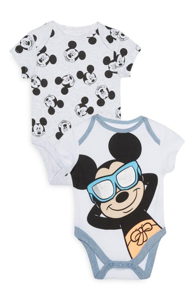 Pack de 2 bodies de Mickey de bebé niño