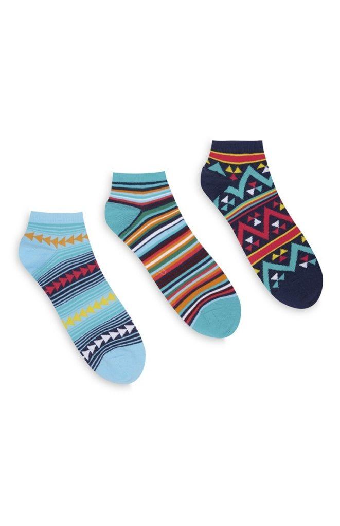 Pack de 3 pares de calcetines estampados