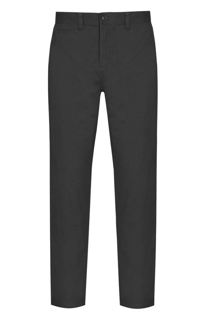 Pantalón chino ajustado elástico negro