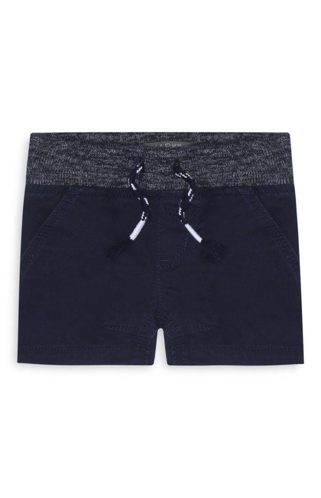 Pantalón corto azul marino de bebé niño