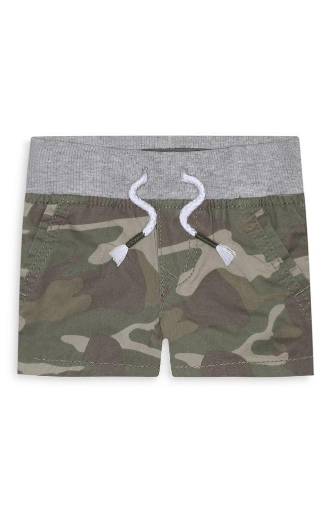Pantalón corto de camuflaje de bebé niño
