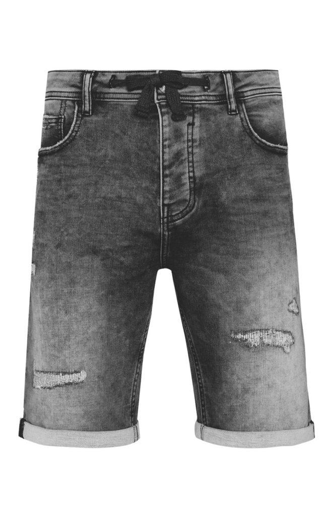 Pantalón corto vaquero gris marengo