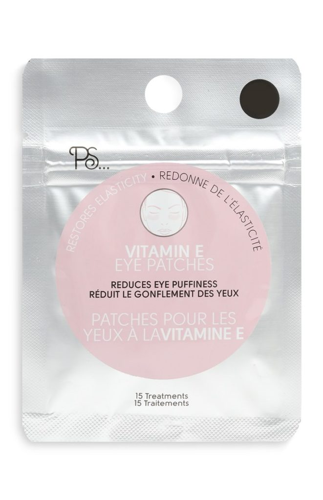 Parches vitamina E para contorno de ojos