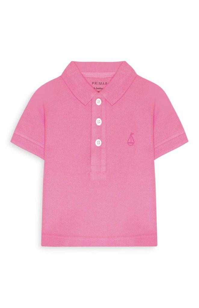 Polo rosa para bebé niño