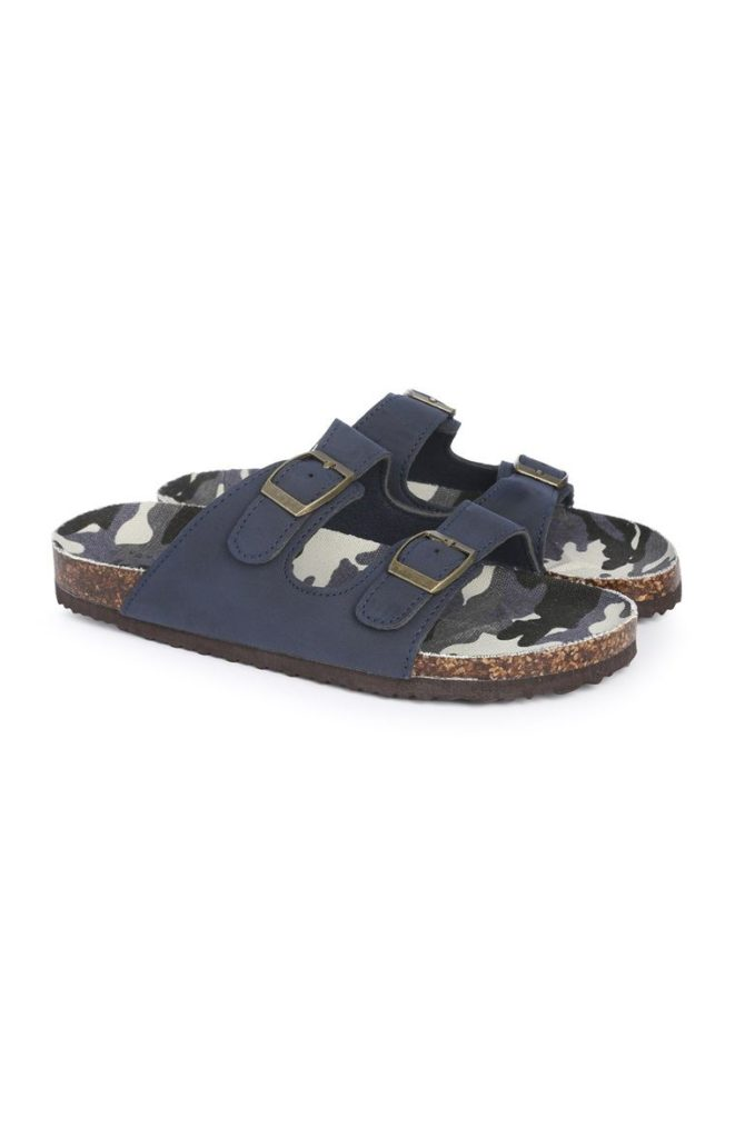 Sandalias azul marino para niño mayor