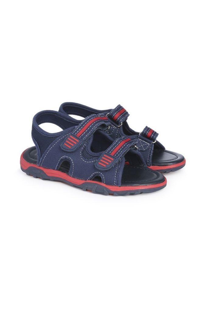 Sandalias azul marino para niño pequeño