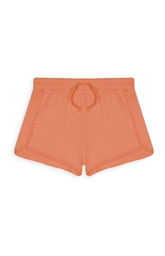 Short de niña color naranja