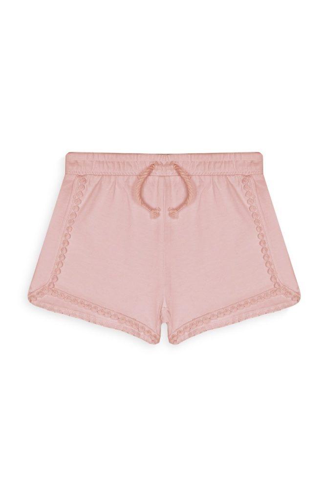 Short de niña color rosa
