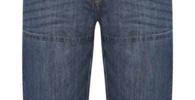 Vaquero corto azul oscuro con cinturón