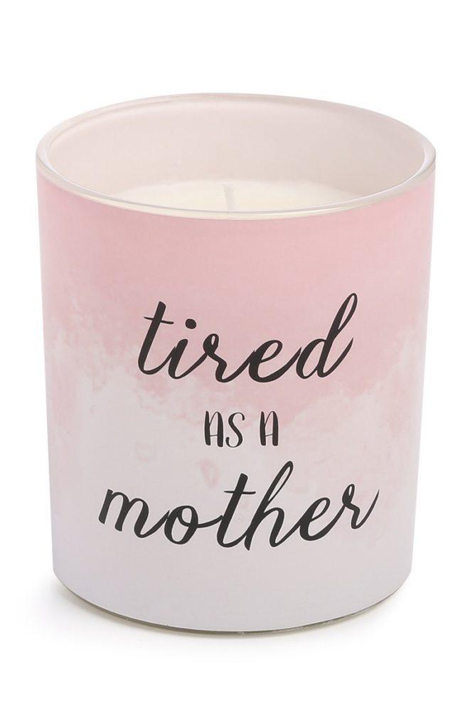 Vela rosa para el Día de la Madre
