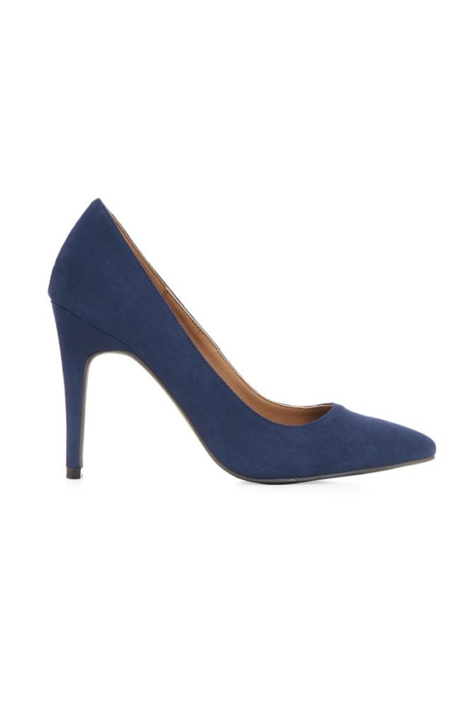Zapato azul de la corte