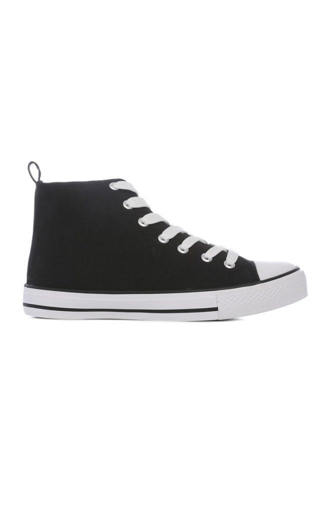 Zapatos para entrenar de lona negra
