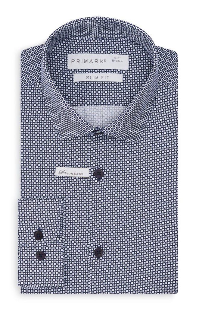 Camisa a cuadros azul marino