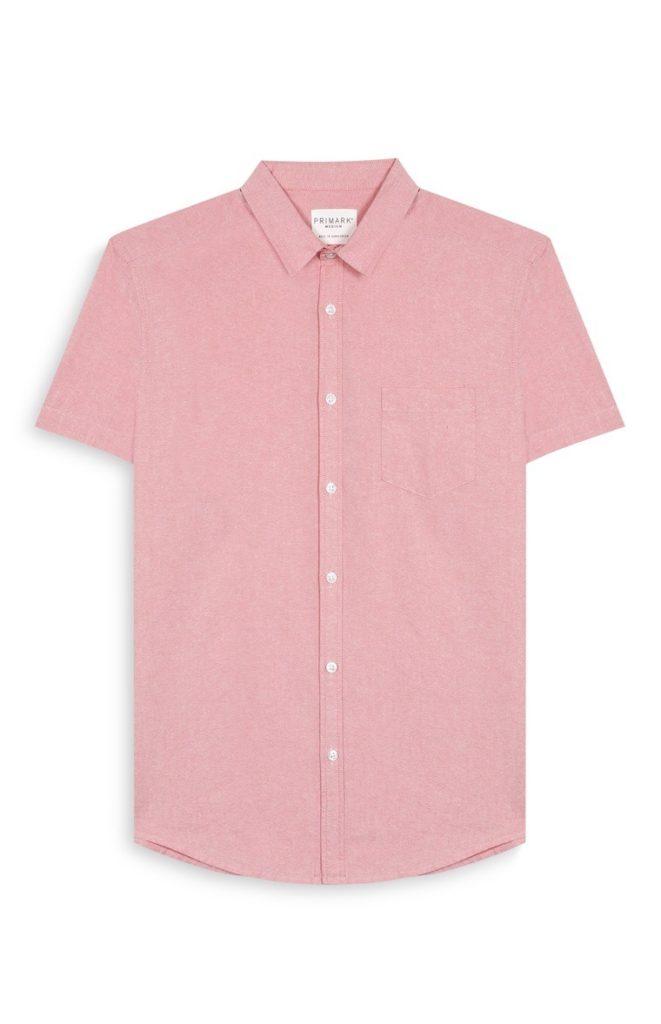 Camisa de manga corta color coral