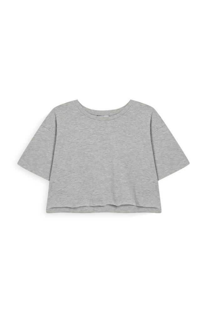 Camiseta corta gris