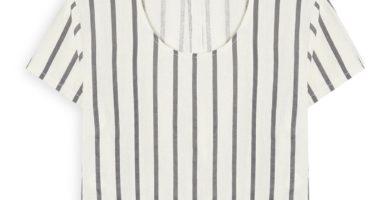 Camiseta de lino a rayas