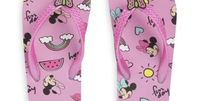 Chanclas de Minnie Mouse para niña mayor