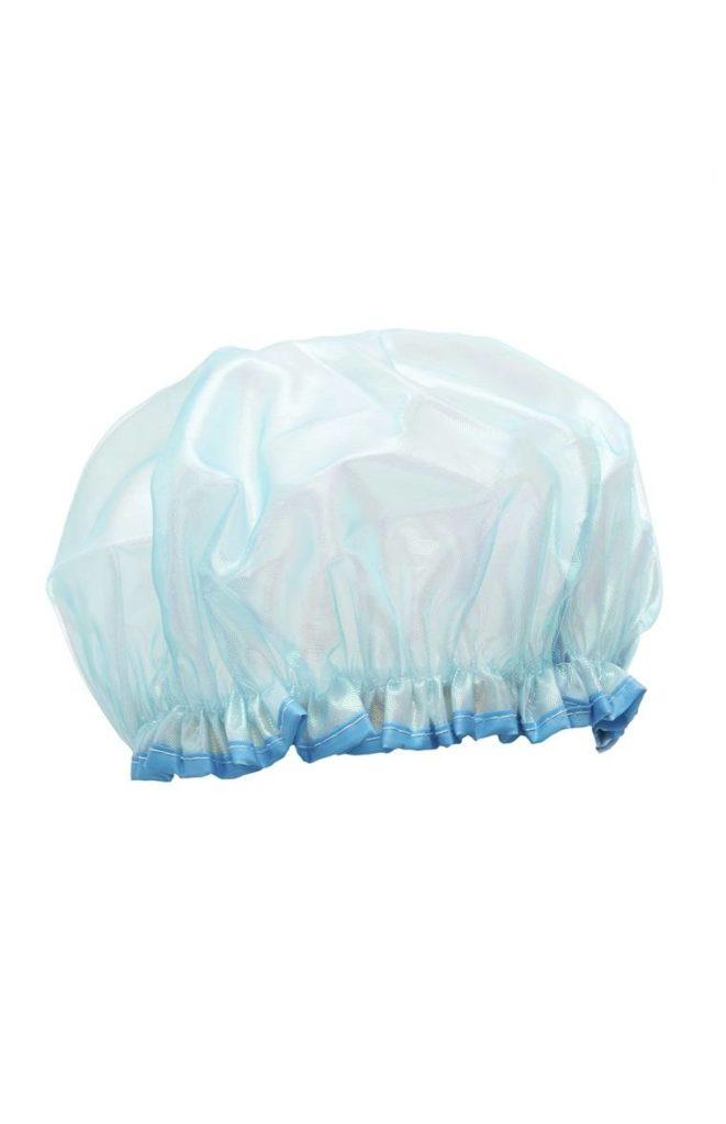 Gorro de ducha azul