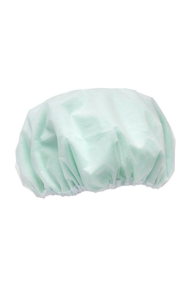 Gorro de ducha verde menta