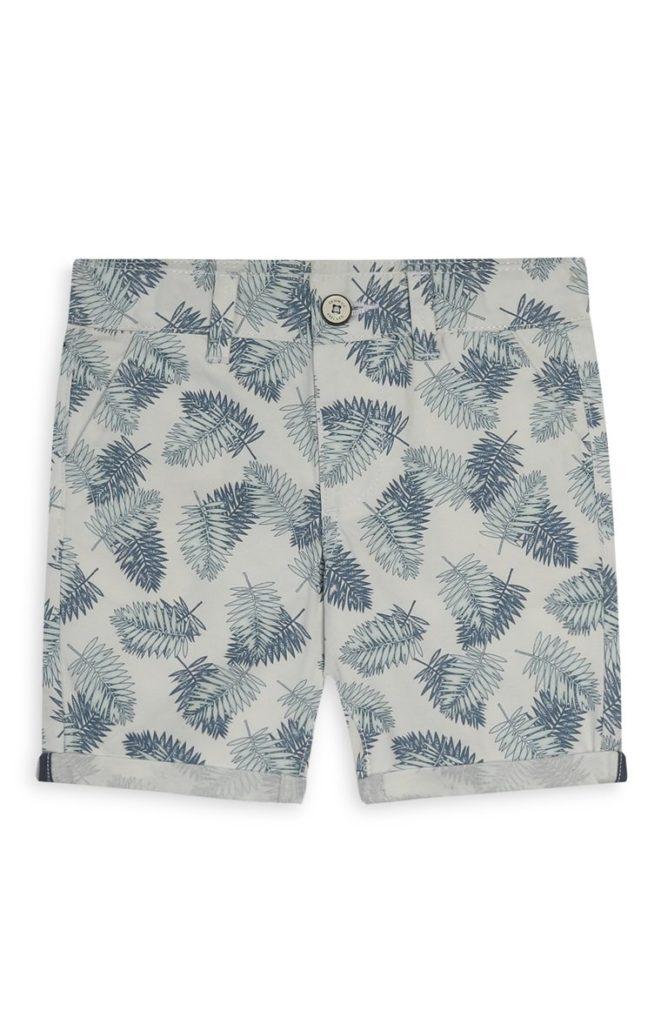 Pantalón corto con hojas de niño pequeño