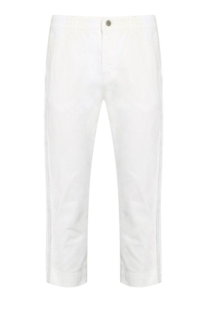 Pantalón pirata blanco de corte recto