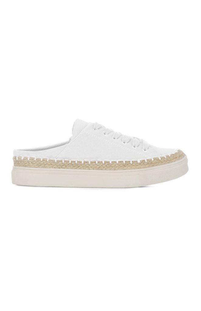 Zapatillas blancas sin talón