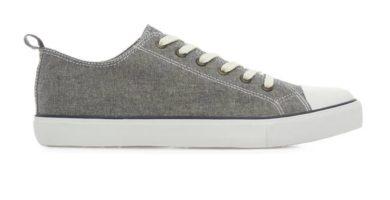 Zapatillas de tela grises