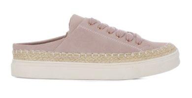 Zapatillas rosa palo sin talón