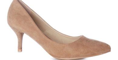 Zapatos de tacón bajo color marrón
