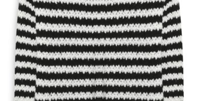 Jersey a rayas blanco con negro