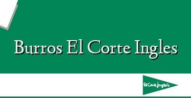 Comprar &#160Burros El Corte Ingles