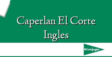 Comprar  &#160Caperlan El Corte Ingles