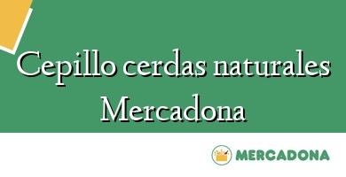 Comprar  &#160Cepillo cerdas naturales Mercadona