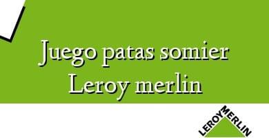 Comprar  &#160Juego patas somier Leroy merlin