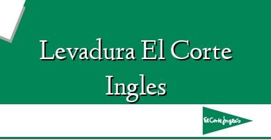 Comprar  &#160Levadura El Corte Ingles