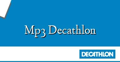 Comprar &#160Mp3 Decathlon