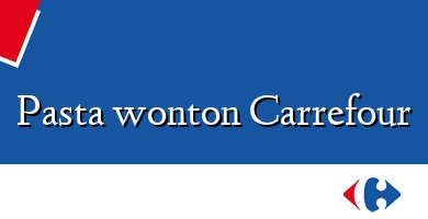 Comprar  &#160Pasta wonton Carrefour
