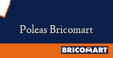 Poleas Bricomart