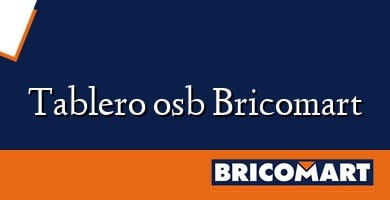 Tablero osb Bricomart